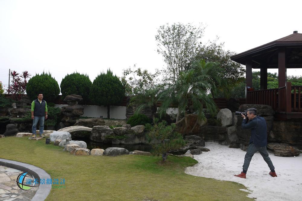 專業的花草特約攝影師為瀧禾的設計諮詢邱先生世來張照片