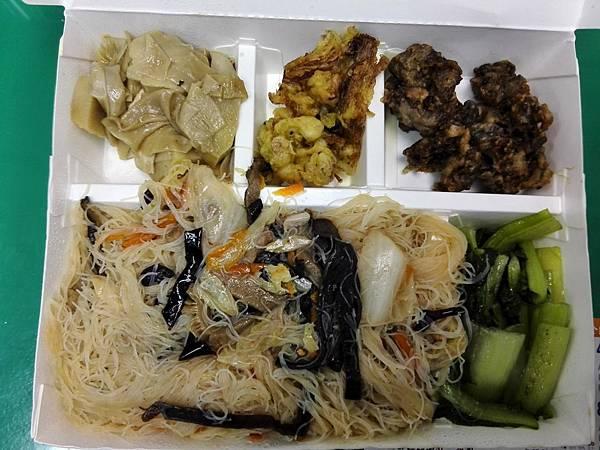 炒米粉加鹽酥菇風味套餐