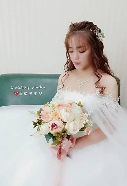 嘉義新娘秘書 新秘吳小u-子琳訂結晚宴進場造型003.jpg