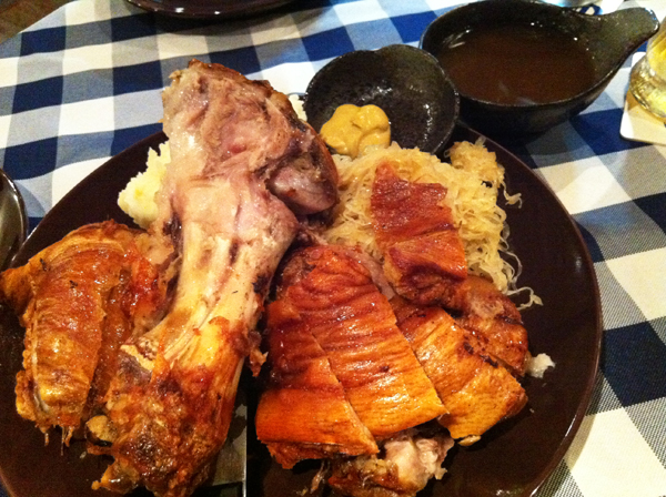 grilled pork knuckle
