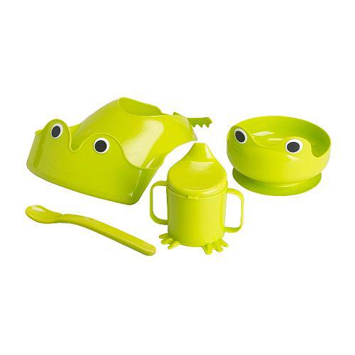 IKEA frog bib