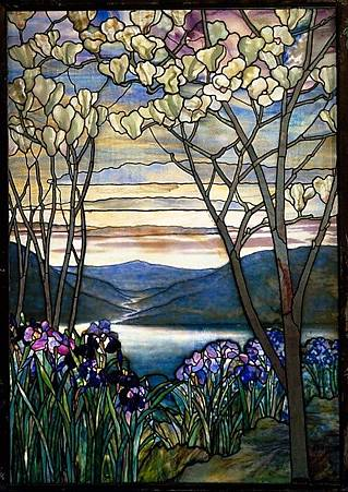 Magnolias and Irises_1908_Louis Comfort Tiffany.