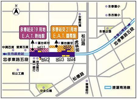 EAT國際館位置圖