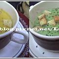 南瓜濃湯與菠菜濃湯