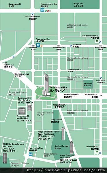 虎之門區域地圖