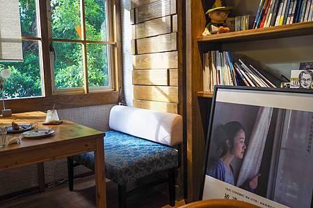 【台北天母   咖啡廳】熨燙著陽光。滿盈著綠意的書香咖啡館♧森丘