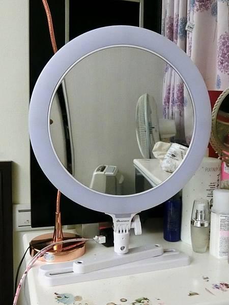 【網美*部落客最愛的補光神器開箱】SUNPOWER MP-3 三合一 多功能鏡面環形LED網美燈♡事業上的好幫手大推薦