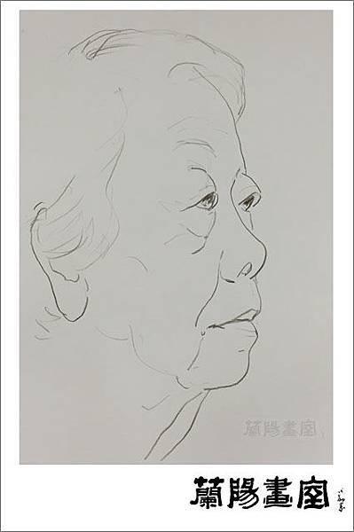 畫室部落格_201608_鄭媽媽87歲生日_楊老師速寫