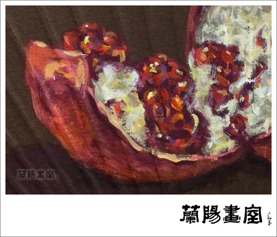 楊德俊老師壓克力彩繪作品 (手繪團扇,局部。)