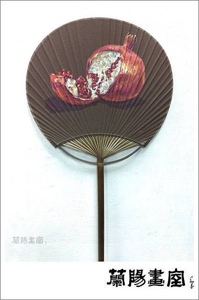 楊德俊老師壓克力彩繪作品 (手繪團扇)