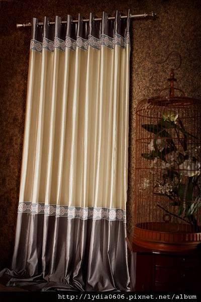 繡花編織帶 - 車縫在窗簾布邊, 或者接縫處