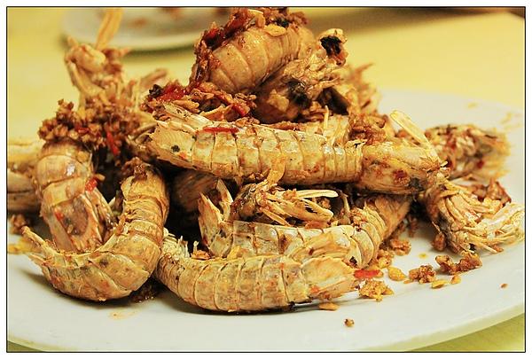 午餐,蝦子~