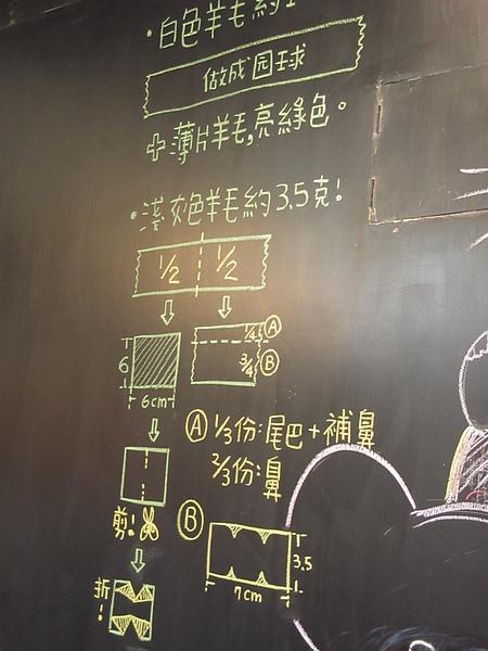 黑板上仍然有解說~