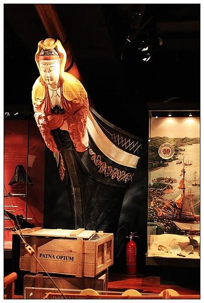 博物館裡的船首~