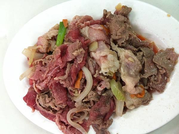 炒起來的肉