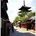 八坂塔與他旁邊的老街