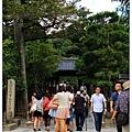 銀閣寺的大門口