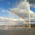 噴水池的彩虹~