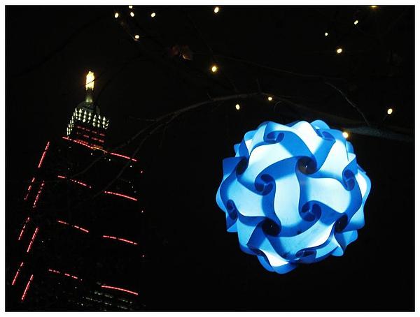 換藍色的燈