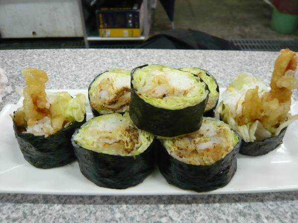 炸蝦生菜捲