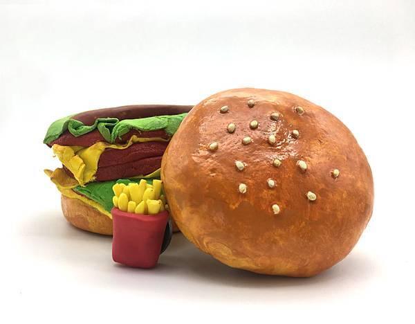 漢堡紙黏土