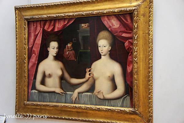 051加布莉埃 德斯特蕾與其姊妹肖像