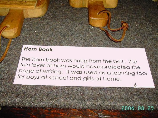 Description of Horn Book