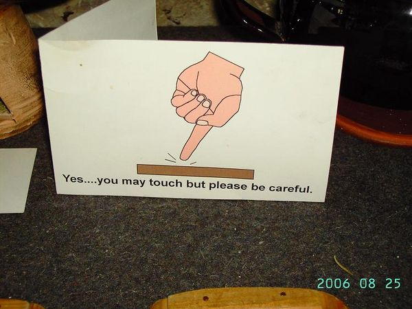Yes... You May Touch