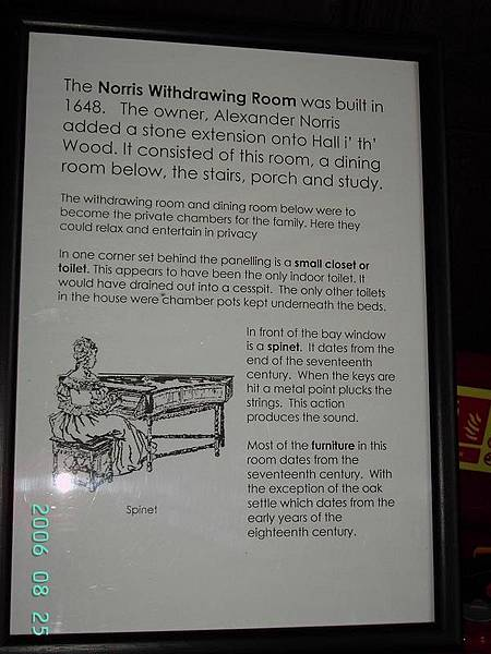 Description of Norris Withdrawing Room
