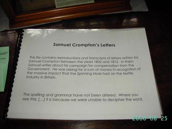 Samuel Crompton's Letters (1)