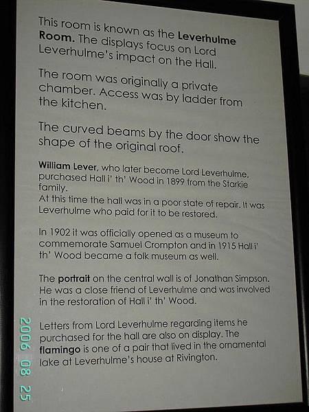 Description of Leverhulme Room