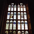 21. The stained window inside Christ Church College's dining hall