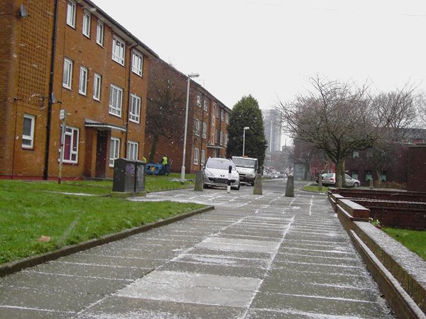 Sleeting in Blackburn in 2007