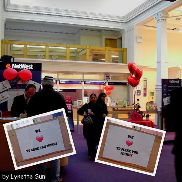 Natwest in Blackburn on Valentine's Day [布來克本可愛的銀行]