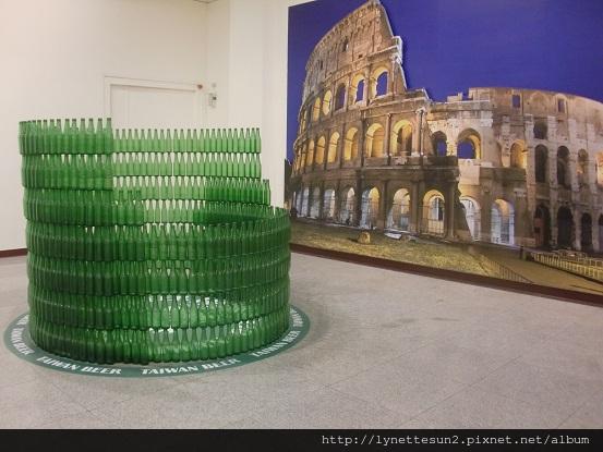 42. 羅馬競技場 - 用台灣啤酒瓶子堆的喔