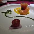 08. Smoked Salmon with Pesto Sauce [煙燻鮭魚佐松子青醬]