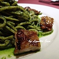 13. Spaghetti Alla Chitarra with Chicken in Pesto Sauce [特製青醬嫩雞琴弦麵]