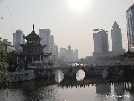 Jiaxiu Pavillion & the centre of Guiyang [甲秀樓&貴陽市容]