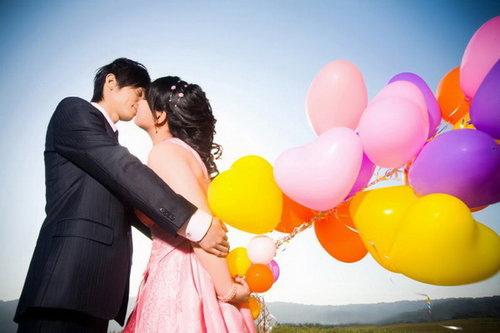 婚紗道具氣球