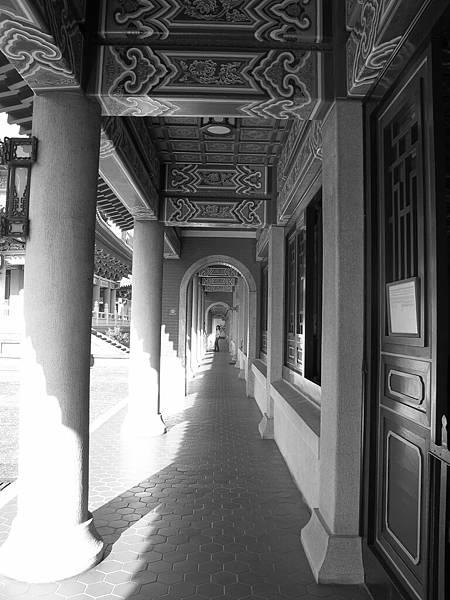 台中孔廟-長廊-黑白