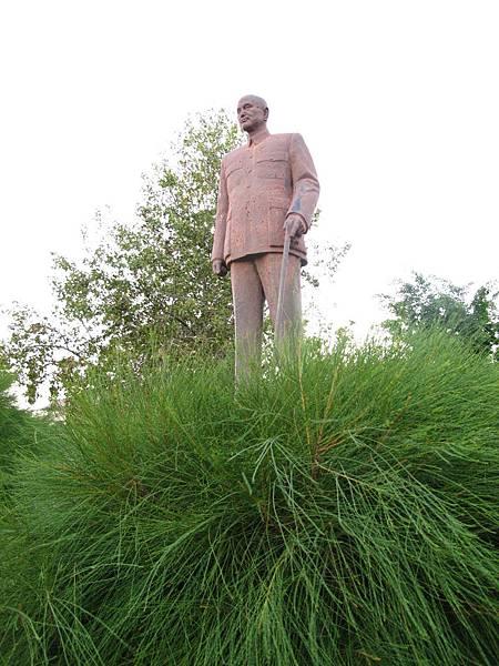 823砲戰紀念公園-草上飛的蔣總統