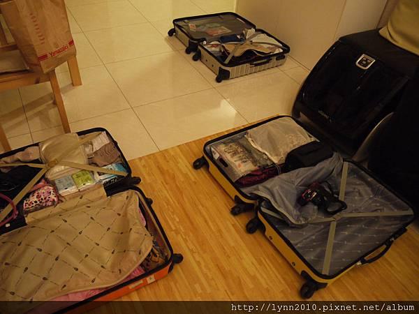 出發前的行李~我的最重~