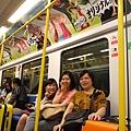 曼谷機場快線之捷運車箱--魯夫、喬巴
