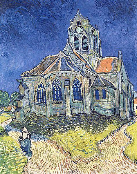 The Church in Auvers Painting.jpg