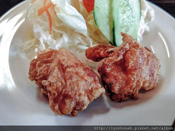 地鶏そば定食1,350円附餐-阿蘇駅旁「御食事处坊中亭」