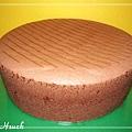 巧克力海綿蛋糕(脫模後)