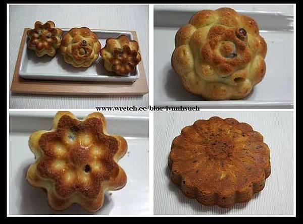 蜜紅豆重奶油蛋糕(花形)