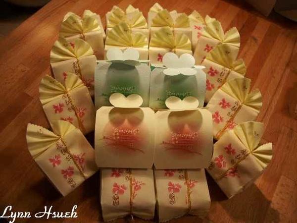包裝好的鳳梨酥