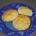 菠蘿奶酥麵包剖面