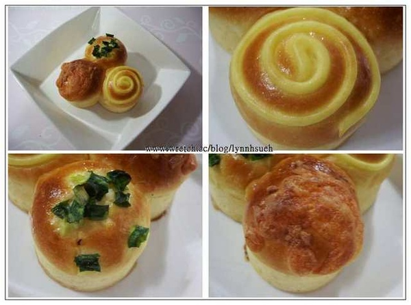 三味布丁麵包(加卡羅布丁粉)